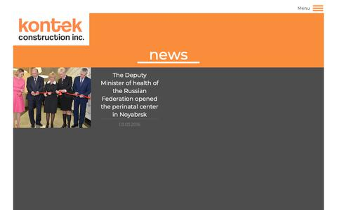 Screenshot of Press Page kontekinsaat.com.tr - News   Kontek İnşaat - captured Oct. 16, 2018