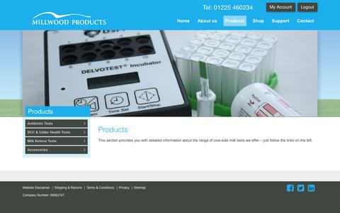 Screenshot of Products Page millwoodproducts.co.uk - Products - Millwood Products - captured Nov. 7, 2018