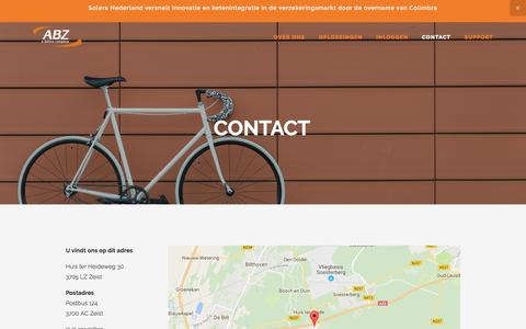 Screenshot of Contact Page abz.nl - Contact — ABZ - captured May 28, 2017