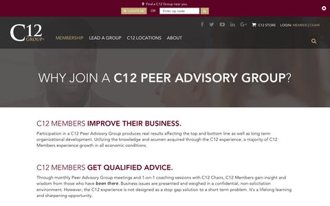 Screenshot of Signup Page c12group.com - Join   C12 Group - captured Oct. 20, 2018