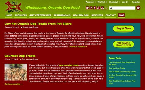 Screenshot of Blog petbistro.us - Health Dog Treat Blog - captured Dec. 8, 2015
