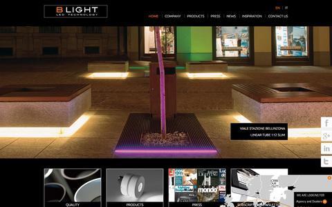 Screenshot of Home Page b-light.it - Home - B Light - captured Dec. 6, 2015