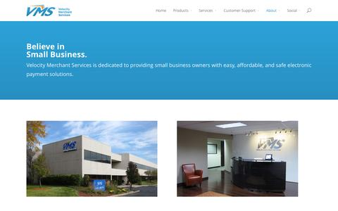Screenshot of About Page getvms.com - About Us - Velocity Merchant Services - captured Oct. 26, 2014