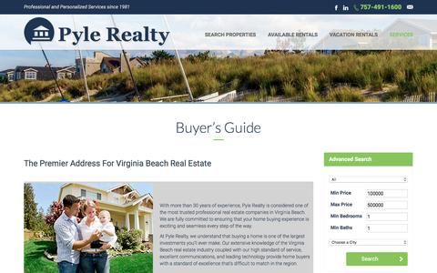 Screenshot of Services Page pylerealty.com - Buyer's Guide - PyleRealty.com - captured July 19, 2016