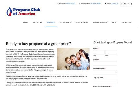 Screenshot of Services Page pcoanc.com - Buy Propane - Propane Club of America - captured Nov. 22, 2017