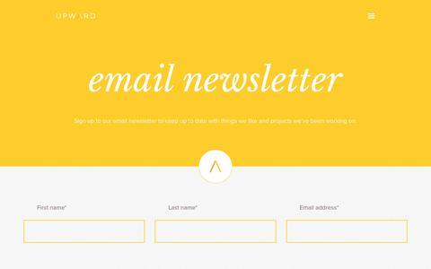 Screenshot of Signup Page weareupward.com - Contact us   Upward Design & Marketing Limited - captured March 5, 2016