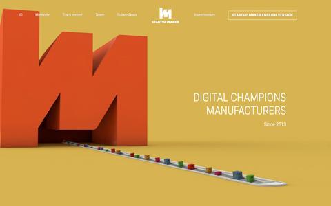 Screenshot of Home Page startup-maker.com - Startup Maker - captured Feb. 26, 2016