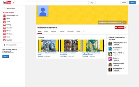Screenshot of YouTube Page youtube.com - mionventoltermica  - YouTube - captured Oct. 23, 2014