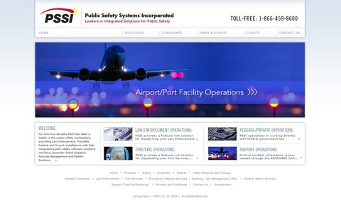Screenshot of Home Page pssi.com - PSSI Public Safety Systems Incorporated - captured Oct. 3, 2014