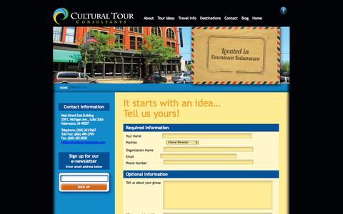Screenshot of Contact Page culturaltourconsultants.com - Contact Cultural Tour Consultants | Cultural Tour Consultants - captured Sept. 30, 2014