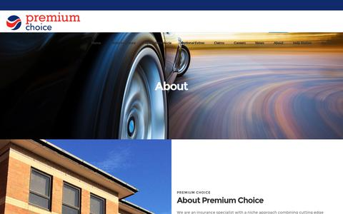 Screenshot of About Page premiumchoice.co.uk - About - Premium Choice - captured Dec. 15, 2018