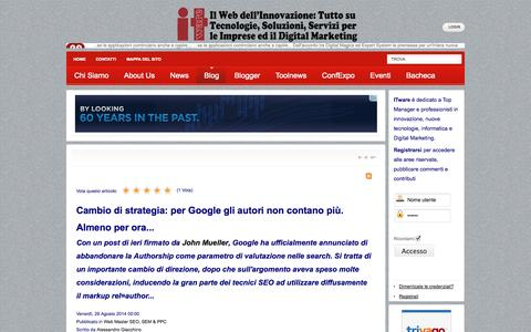 Screenshot of Blog itware.com - I Blog di ITware - captured Sept. 22, 2014