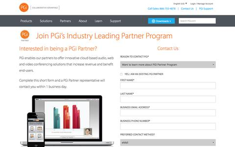 Screenshot of Landing Page pgi.com - Contact a PGi Collaboration Expert | PGi - captured Feb. 22, 2016