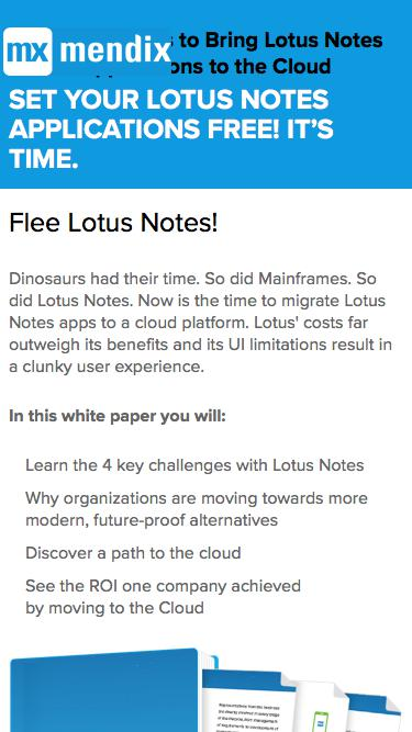4 Key Reasons to Bring Lotus Notes Apps to the Cloud