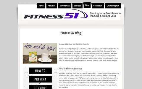 Screenshot of Blog fitness51.com - Fitness 51 Blog - captured Aug. 14, 2018
