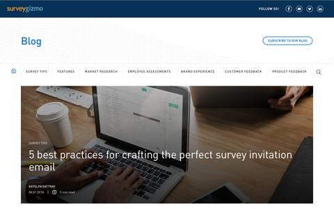 Screenshot of Blog surveygizmo.com - Blog - SurveyGizmo - captured May 7, 2019