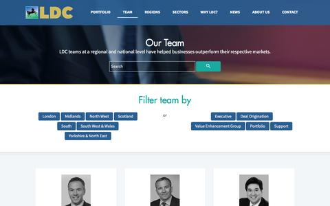 Screenshot of Team Page ldc.co.uk - Team | LDC - captured July 9, 2016