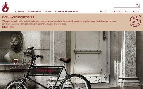 Screenshot of FAQ Page baresso.com - Kontakt Baresso Coffee - send ansøgning, spørgsmål m.m - captured Feb. 7, 2016