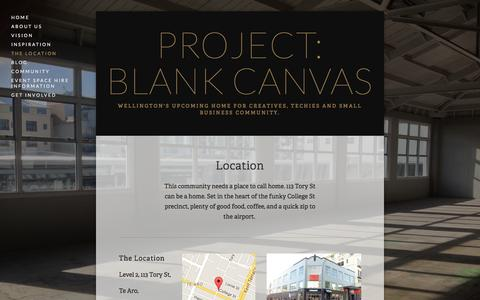 Screenshot of Locations Page projectblankcanvas.com - The Location — Project: Blank Canvas - captured July 17, 2016