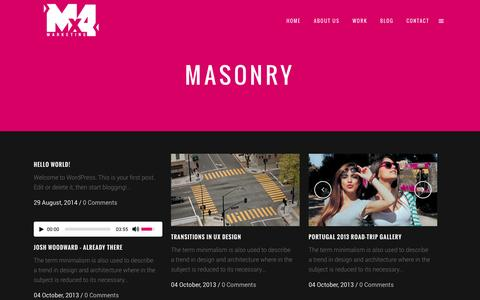 Screenshot of Blog mx4marketing.com - Mx4 Digital Marketing Agency |   Masonry - captured Nov. 3, 2014