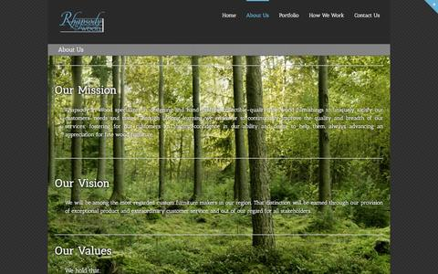 Screenshot of About Page rhapsodyinwood.com - Đ  About Us - captured Dec. 5, 2015