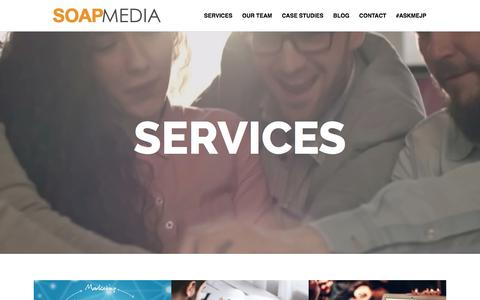 Screenshot of Services Page soapmedia.ca - SEO Services Ottawa - Grow Your Business Online - captured Sept. 30, 2017