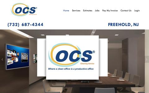 Screenshot of Home Page ocscleaning.com - OCS Cleaning Service - captured Nov. 28, 2016