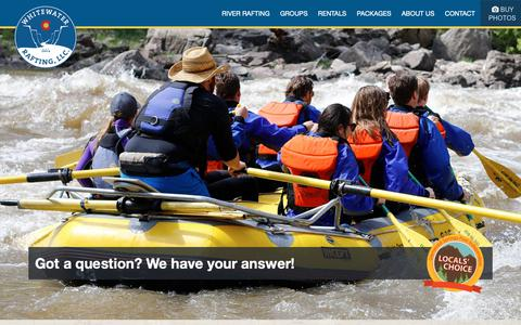 Screenshot of FAQ Page coloradowhitewaterrafting.com - Whitewater Rafting LLC Frequently Asked Questions - FAQ - captured Oct. 19, 2018