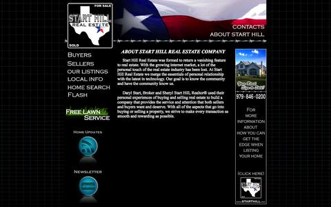 Screenshot of About Page starthill.com - Start Hill Real Estate Company, College Station, TX 77845 - captured Oct. 1, 2014