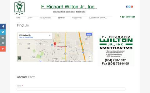 Screenshot of Privacy Page Contact Page frichardwilton.com - Contact - captured Oct. 23, 2014