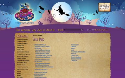Screenshot of Site Map Page witchesofpendleshop.com - Site Map - captured Oct. 7, 2014