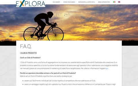 Screenshot of FAQ Page exploratourism.it - Explora Tourism - F.A.Q. - captured Sept. 30, 2014