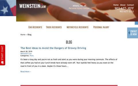 Screenshot of Blog jeffweinsteinlaw.com - Blog   Henderson County TX Attorney   Jeff Weinstein Law - captured July 21, 2019
