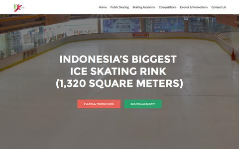 Screenshot of Home Page bxrink.com - Bintaro Xchange Ice Skating Rink (BX Rink) - Xplore on Ice - captured Dec. 28, 2015