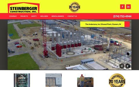 Screenshot of Home Page sciteam.com - Steinberger Construction, Inc. - - captured Feb. 17, 2016