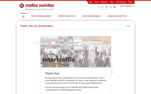 Screenshot of Press Page melbaswintex.co.uk - Melba Swintex | News | Products & Updates - captured April 20, 2018