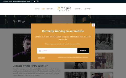 Screenshot of Blog emagicstudios.co.uk - Blog - E-Magic Studios - captured May 11, 2017