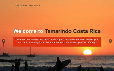 Screenshot of Home Page tamarindomangorentals.com - Tamarindo Condo  Rentals Condo Rentals Home - Tamarindo Condo Rentals - captured March 11, 2016