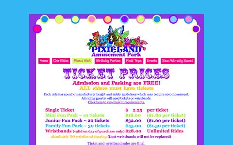 Screenshot of Pricing Page pixieland.com - Pricing - captured March 2, 2016