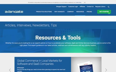 Screenshot of avangate.com - Software News   Commerce Resources   eCommerce Trends - captured Sept. 30, 2016