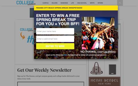 Screenshot of Signup Page collegemagazine.com - Get Our Weekly Newsletter - College Magazine - captured Dec. 10, 2015