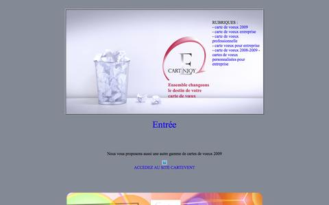 Screenshot of Home Page carte-de-voeux.info - carte de voeux comme cadeau réalisée par des professionnels de la carte de voeux - captured May 10, 2016