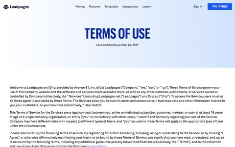 Leadpages® Legal