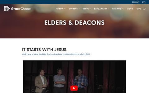 Screenshot of Team Page gracechapel.org - Elders & Deacons - Grace Chapel - captured Nov. 5, 2018