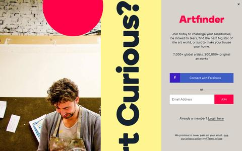 Screenshot of Press Page artfinder.com - Press | Artfinder - captured Nov. 22, 2016
