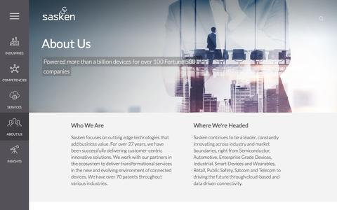 Screenshot of About Page sasken.com - About Us | Sasken Communication Technologies Ltd. - captured Nov. 19, 2016