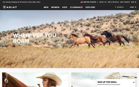 Ariat International | Home Page