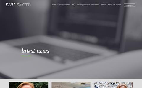 Screenshot of Press Page keycapitalpartners.co.uk - Key Capital Partners - News - captured Oct. 15, 2018