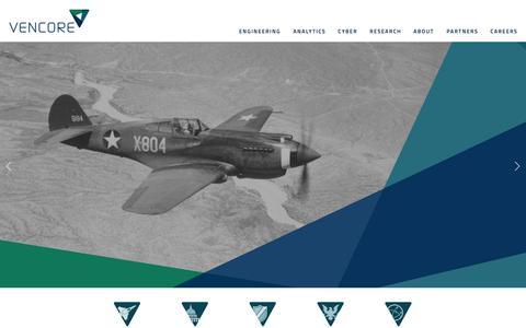 Screenshot of Home Page vencore.com - Vencore - captured Jan. 30, 2015