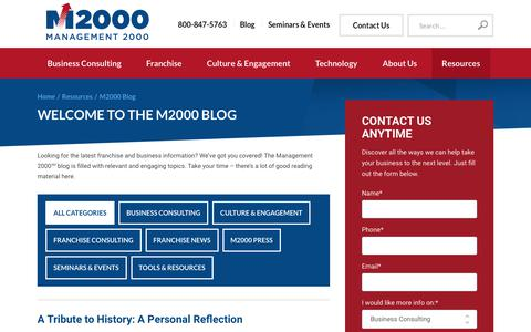 Screenshot of Blog mgmt2000.com - M2000 Blog   Franchise Business Topics   Management 2000 - captured Oct. 2, 2018
